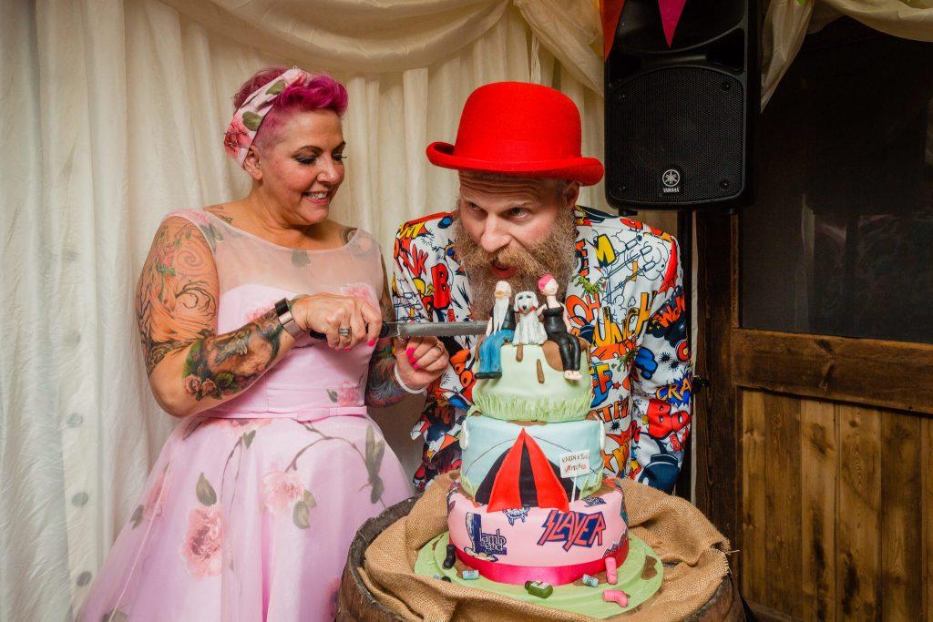 Rock n Roll Bride Alternative Wedding Cake