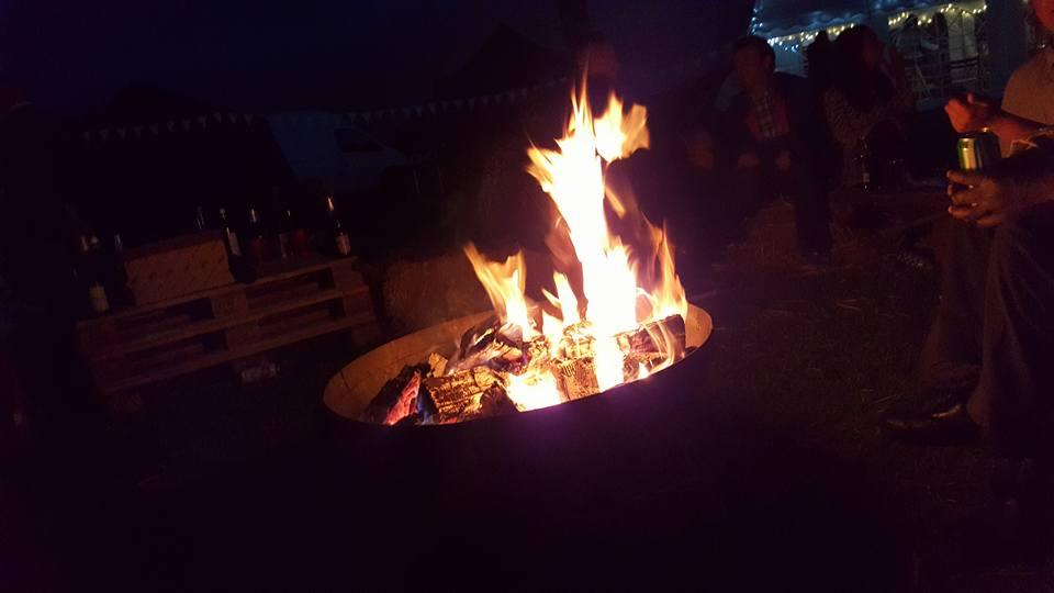 Woodland Wedding Camp Fire